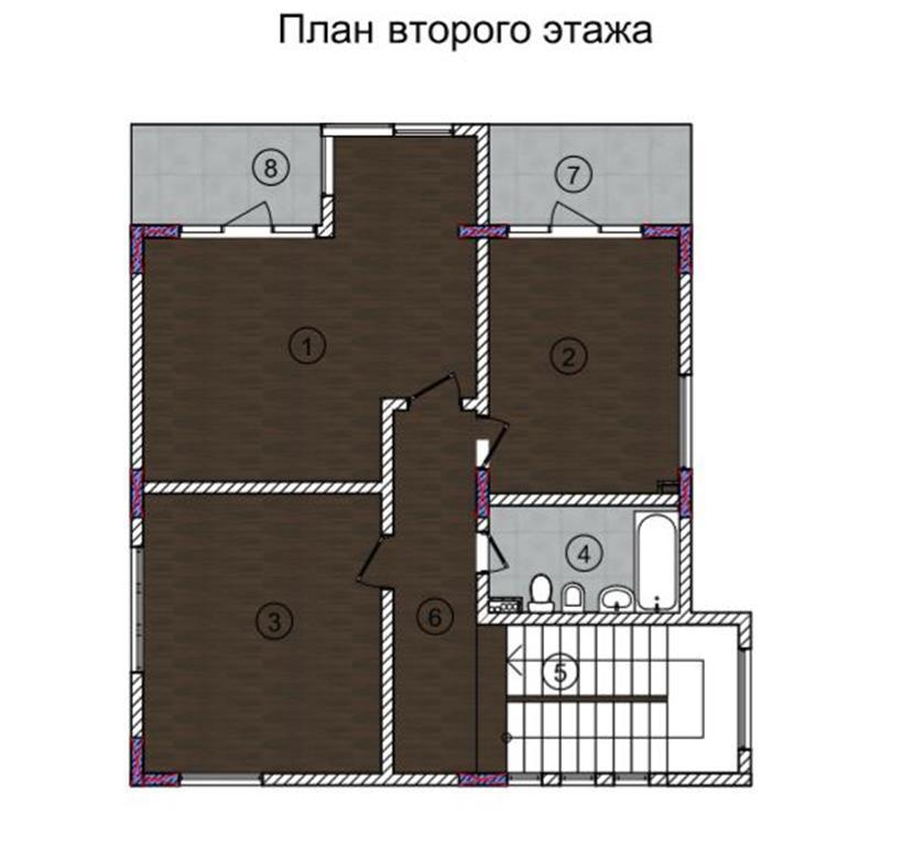КП Персик Сочи - План 2-го этажа