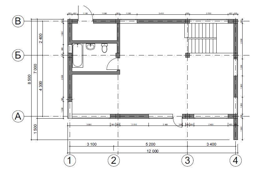 КП Зеркальный - План 1-го этажа