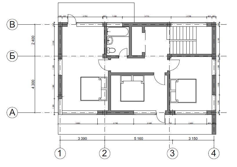 КП Зеркальный - План 2-го этажа