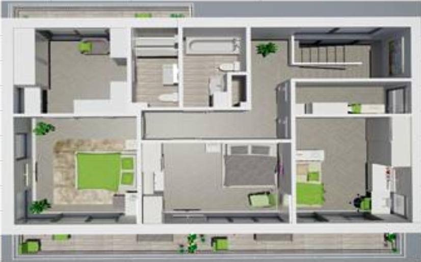 КП Зеркальный - Визуализация 2-го этажа