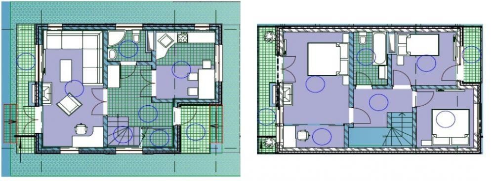 КП Зеленый парк - План 1 и 2 этажей дома