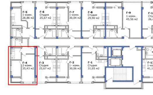 2-комнат квартира ЖК Южный парк Сочи